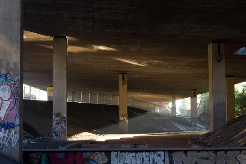 Beneath a concretesky